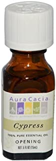 Aura Cacia Essential Oils Cypress - 0.5 Oz (Pack of 2)