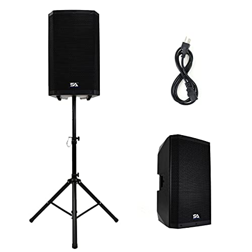 """Seismic Audio - Riot-15 - Powered 15"""" 1000 Watt PA/DJ Speaker with Bluetooth, DSP, Built in Mixer & Class D Amplifier"""