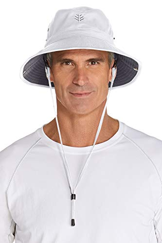 Coolibar pour Homme UPF 50 + UV Soleil de Protection garçon Golf Chapeau Taille Unique White/Carbon
