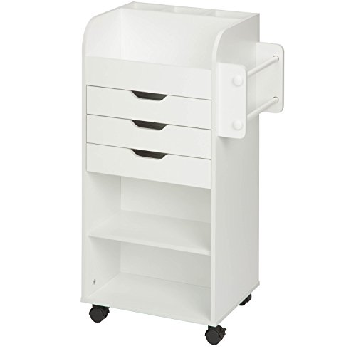 """Honey-Can-Do CRT-06346 Rolling Craft Storage Cart with 3-Drawers, White, 19.13"""" x 33.62"""""""