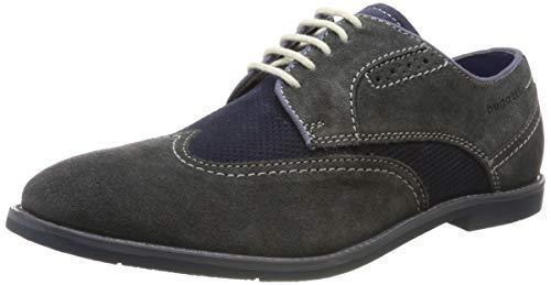bugatti 3.13111E+11, Scarpe Stringate Derby Uomo, Grigio (Grau (Grey/Blue 1540), 40 EU