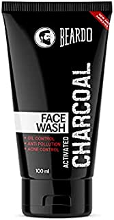 Beardo Activated Charcoal Anti-Pollution Face Wash for Deep Pore Cleaning, 100ml   Removes Dirt & Impurities   Suitable fo...