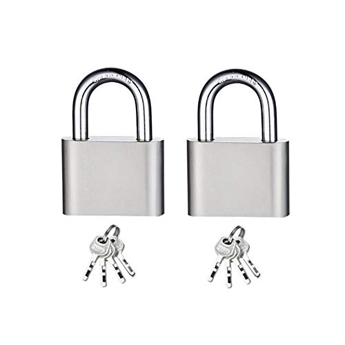Small Padlocks with Keys Padlocks Outdoor Heavy Duty Best Used for Backpacks, Luggage, Computer Bags, Locker, Gym and More (Pack of 2)-Short_Padlock_30_MM