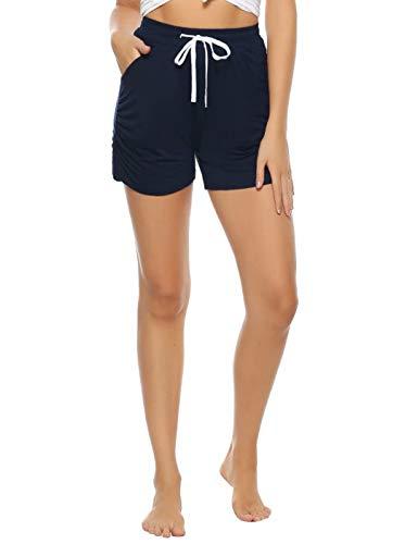 Aiboria Shorts de Verano para Mujer Shorts de Playa de algodón Lounge para Mujer Fitness Pant Short De Deporte