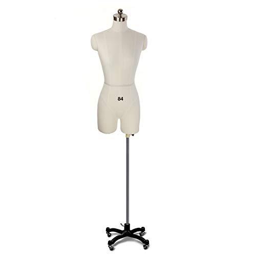 Maniqui Costura Mujer Modista Maniquí de forma de vestido de costura, cuerpo de maniquí de exhibición femenina con ruedas, altura ajustable, espuma de poliestireno, confección de vestidos de novia