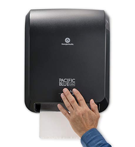 "Pacific Blue Ultra 8"" High-Capacity Automated Touchless Paper Towel Dispenser by GP PRO (Georgia-Pacific), Black, 59590, 12.9"" W x 9"" D x 16"" H, 1 Dispenser"