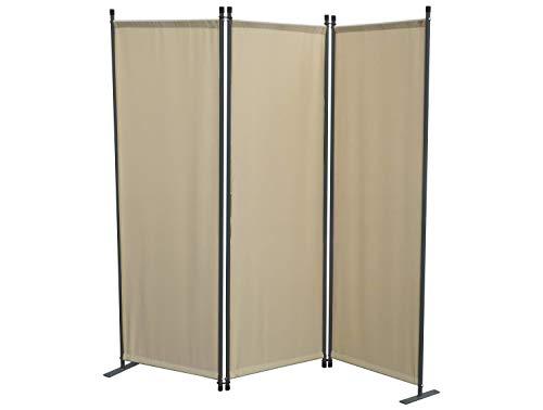 GRASEKAMP Qualität seit 1972 Stellwand 165x170 cm dreiteilig - beige - Paravent Raumteiler Trennwand Sichtschutz