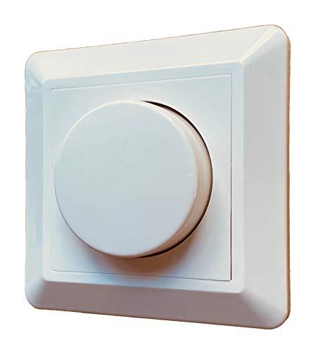 greenandco® gc-350 Unterputz LED und Halogen Dimmer 1-350 Watt, für Wechselschaltungen geeignet, mit Boost Funktion, weiß, 2 Jahre Garantie
