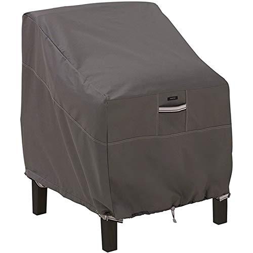 LDIW Funda para sillas de jardín y balcón Sillas, Impermeable Tela 420D Oxford Resistente al Desgarro Protección UV Premium Funda para Sillón Individual,85 * 80 * 91cm