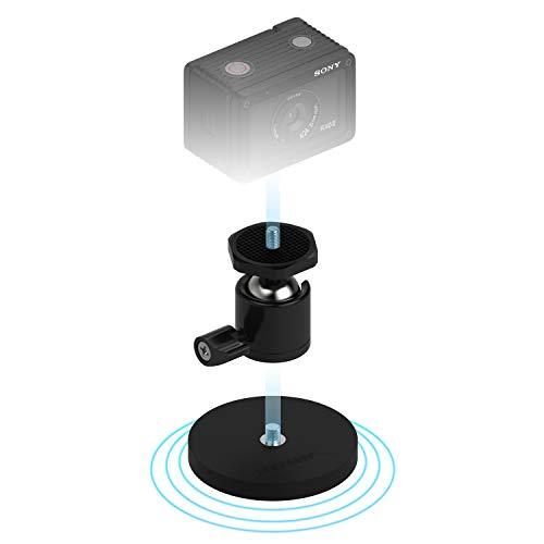 Sabrent gummibeschichtete Magnethalterung für Action Cams und kleine Kameras (CS-MG66)