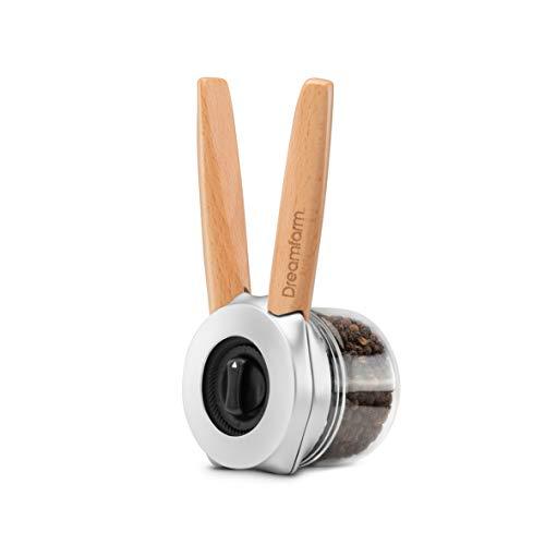 Dreamfarm Ortwo with Extra Jar-Salt, Pepper Spice Mill Grinder, 4oz, Wood