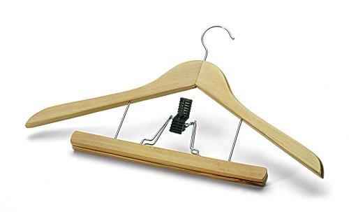 set da 2 pezzi 44 cm Grucce in legno laccato con attacco per pantaloni Sanifri 470015087