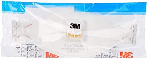 Atemschutzmaske 3M 9332+ FFP3 mit Ventil maximaler Schutz gegen gefährliche Staub, Bakterien, Viren, 9332+ - 5