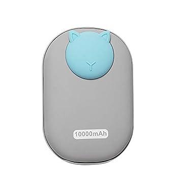 DUTUI Chauffe-mains avec chauffeur USB portable de poche mini chauffeur électrique de dessin animé pour l'hiver chaud mobile pour fille de Noël, gris