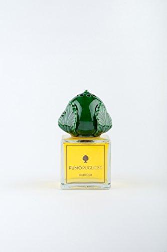 Pumo Pugliese - Diffusore con Bastoncini di Legno Profuma Ambiente - Oggetto in Ceramica Colorata Verde Bottiglia - Made in Italy - Soprammobile per Casa - Idea Regalo - Fragranza Grecale 200 ml