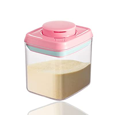 LANEYLI Formula Dispenser Snack Cup for Home Travel Outdoor Activities with Baby Infant Pink