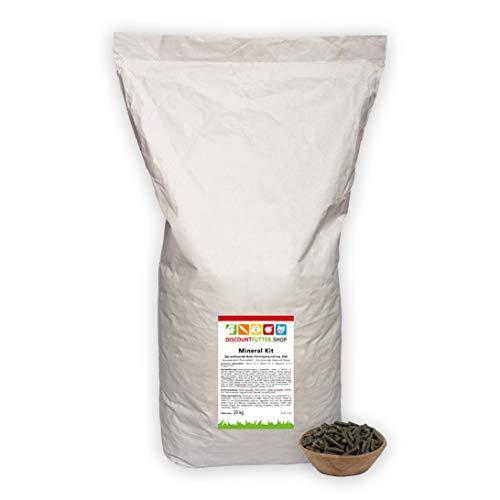 discountfutter.shop Mineral Kit - TOP - Mineralfutter für Pferde (20 kg - pelletiert) - getreidefrei und ohne Zuckerzusatz - mit organischem Zink