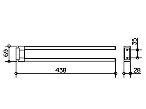 Keuco 14918070000 Plan Handtuchhalter, edelstahl