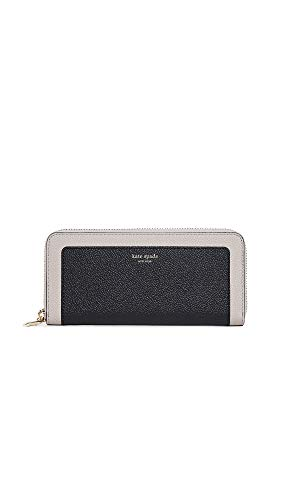 Kate Spade New York Women's Margaux Slim Continental Wallet, Black/Warm Taupe, One Size