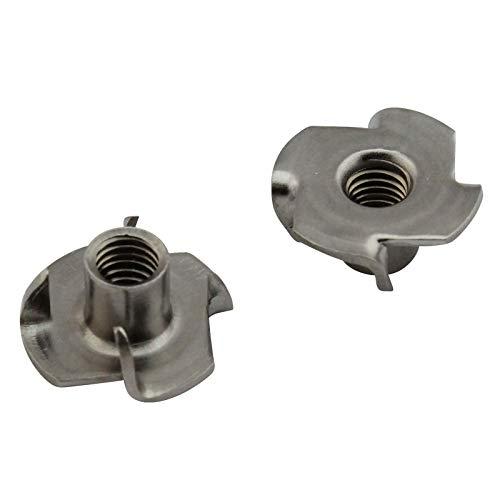 D2D | VPE: 2 Stück - Einschlagmuttern M4 - aus rostfreiem Edelstahl A2 V2A - Einpressmutter
