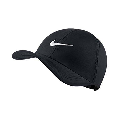 Nike Featherlight ADJ - Gorra unisex (talla única), color negro y blanco