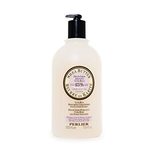 Perlier Shea Butter with Lavender Bath Cream, 101.3 fl. oz.