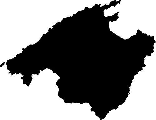 Werbetechnik Sotirios Papoutsis 2X Auto Aufkleber Car Sticker Mallorca Spanien Insel (ca 11 x 9 cm) (Schwarz)