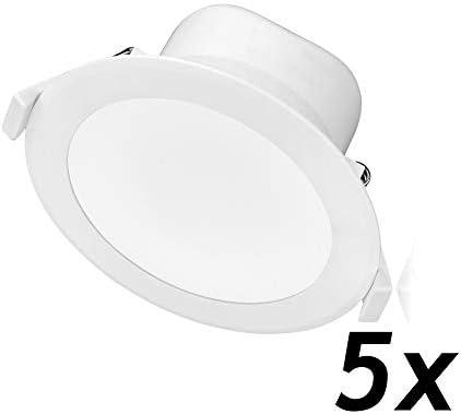 TEVEA Led Einbaustrahler Dimmbar IP44 mit 3 Lichtfarben | 9W 806lm 230V |geringe Einbautiefe | Einbauleuchte | Einbaustrahler (9W)