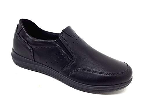 Enval Soft 5223500 Mocassins voor heren, van memory-schuim, echt leer, zwart