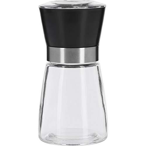 Westmark Molino de especias, Con molino de cerámica, Regulación infinita, Vidrio/plástico, Negro/plata/transparente, 63542260