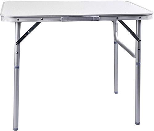 Tavolo in Alluminio Pieghevole Campeggio Tavolo 122 x 60 x 55/62/70 H cm Giardino Tavolo Tavolino Pieghevole Tavolo da Picnic in Alluminio Tavolo Pieghevole e Regolabile in Altezza
