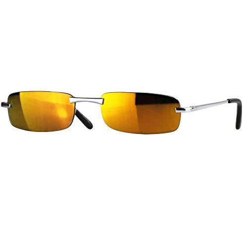Caripe sportliche Sonnenbrille Herren rechteckig rahmenlos verspiegelt, herso (One Size, Modell 1 - sun verspiegelt)