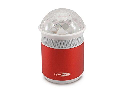 Caliber HPG319BTL/R draagbare Disco-Bluetooth-luidspreker met veelkleurige LED-lampen rood
