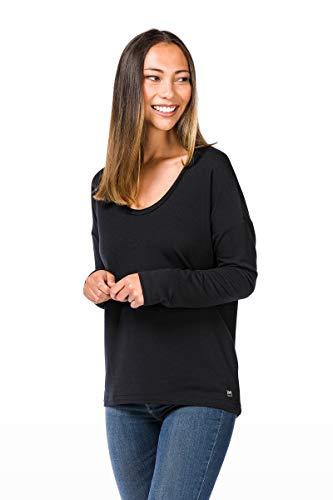 super. Natural W City Over Femme en Laine mérinos T-Shirt XS Jet Black