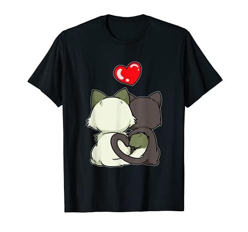 Gato Divertido Amor Amistad Gatito Relación Novia Camiseta