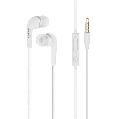 GENUINE ORIGINAL EHS64AVFWE WHITE SAMSUNG IN EAR HEADPHONES/STEREO HEADSET/HANDSFREE KIT/HEADPHONES 3.5MM MIC FOR Galaxy S7, S6 Edge Plus, S5 Mini, S4 I9500, S4 Mini I9190,(Bulk Packaging) from Samsung
