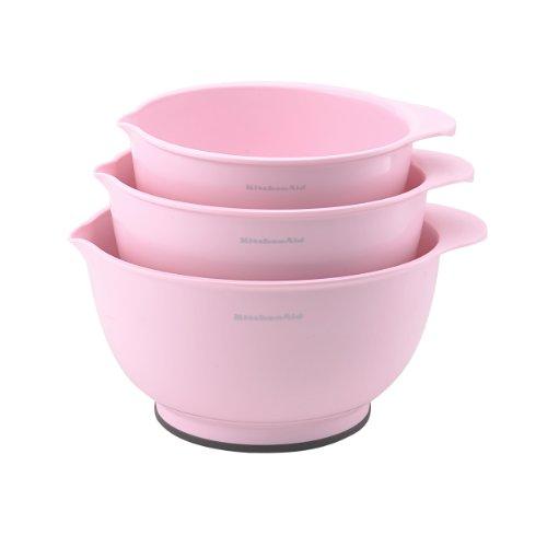 KitchenAid Classic Mixing Bowls, Pink, Set of 3