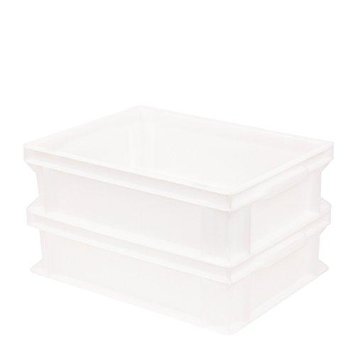 Pimotti Pizzaballenbox (2er Set ohne Deckel) mit 30 x 40 x 12 cm, Kunststoffbehälter für Pizzateig, Stapelbehälter, Gärbox