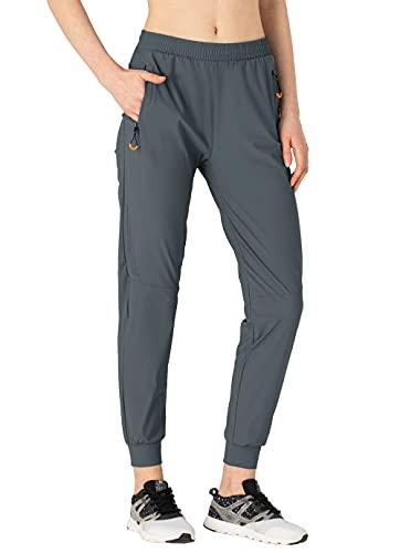 donhobo Pantalones de senderismo para mujer, de secado rápido, pantalones de verano, pantalones de trekking, camping, transpirables, deportivos, para el tiempo libre, Mujer, gris, extra-small