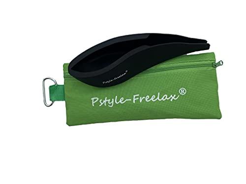 Pstyle-Freelax - Funda de silicona con mosquetón y bolsa de transporte, color negro