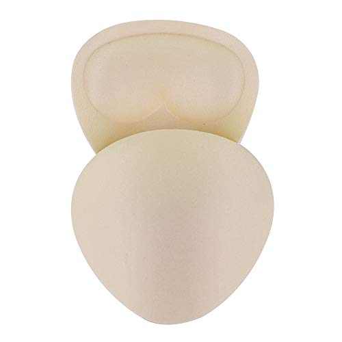 2 paar Mini Black Khaki Triangel Push up Pads Borstkussens voor kinderen Bikini Padding Insert