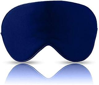 Eye Mask - Super Smooth Silk, Navy Blue (One Strap)