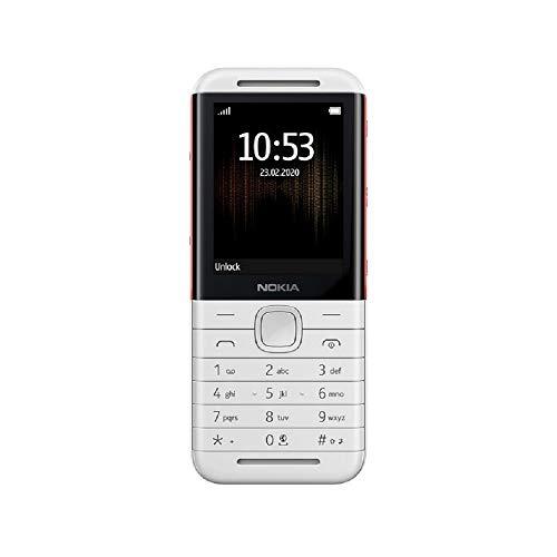 Nokia 5310 2,4 Zoll (6,1 cm) 8 MB UK SIM-Free 2G Funktion Handy (Dual Sim) – Weiß/Rot