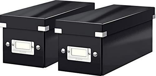 Leitz Click & Store CD Aufbewahrungsbox, Schwarz, 60410095 (Schwarz 2er Pack)