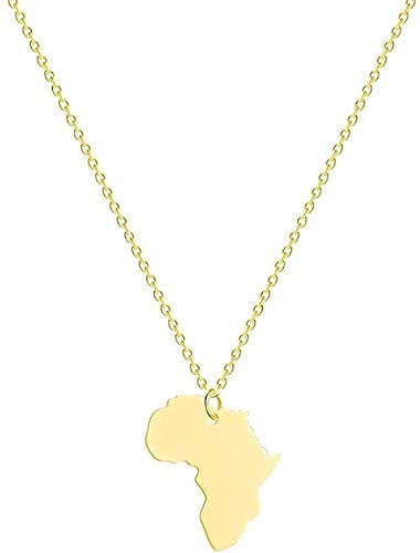NC110 Necklace Necklace Africa Map Pendant Necklace Choker Ethiopian Jewelry Birthday Gift Geometric Globe World Map Necklace Accessories