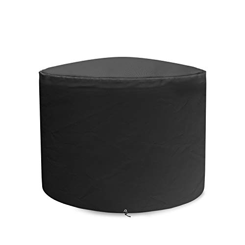 SHINESTAR Fire Pit Cover for Solo Stove Bonfire 19.5 Inch Fire Pit, Round Cover Heavy Duty Waterproof Material for SSBON Bonfire Fire Pit, Black