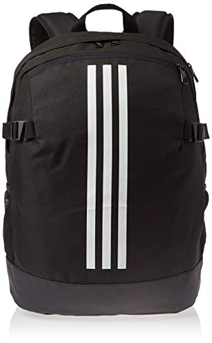 adidas 3-Stripes Power Backpack Medium - Black/White/White, 16 x 32 x 44 cm