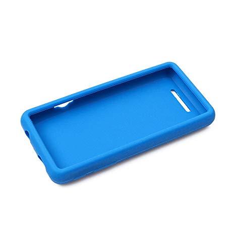 95sCloud Schutzhülle Kompatibel mit SOULCKER D16 MP3 Player Hülle, Dauerhaft Schutz Silikon Bumper Case Cover Scratchproof Durchsichtige Schutzhülle Ersatz für SOULCKER D16 MP3 Player (Himmelblau)