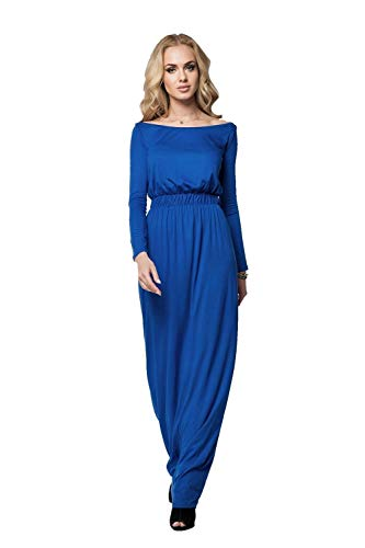 AE jurk lange maxi-jurk elastische tailleband maat 36 38 40 42 44 46, A008