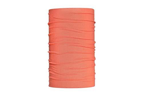 HeadLOOP Multifunktionstuch Schal Halstuch Kopftuch Microfaser (Orange Aprikot)